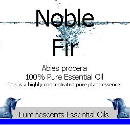 Noble Fir Essential Oil Label copyright d hugonin