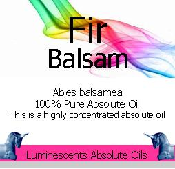 Fir Balsam absolute oil label