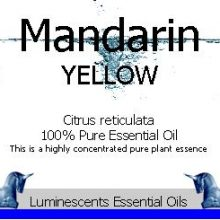 Yellow Mandarin Essential Oil Label