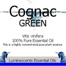 cognac green essential oil label