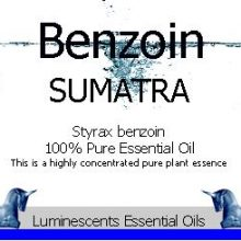 Benzoin Sumatra Essential Oil Label Copyright D Hugonin