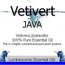 vetivert java essential oil label