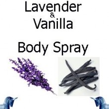 Lavender and vanilla Body Spray