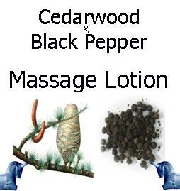 cedarwood and black pepper Massage Lotion