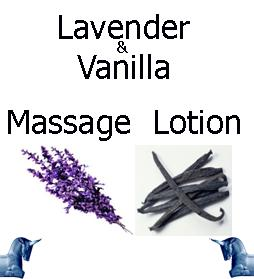 Lavender and vanilla Massage Lotion