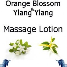 Orange Blossom and ylang ylang massage lotion