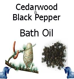 cedarwood and black pepper Bath Oil