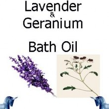 Lavender and geranium bath Oil