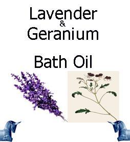 Lavender and geranium bath Oil
