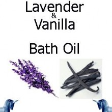 Lavender and vanilla bath Oil