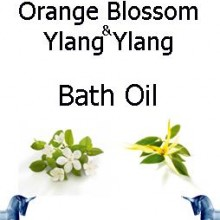 Orange Blossom and ylang ylang bath Oil
