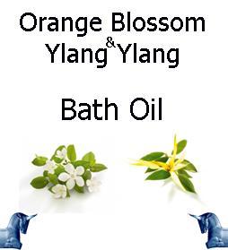 Orange Blossom and ylang ylang bath Oil