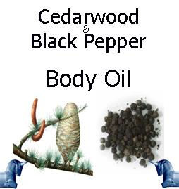 cedarwood and black pepper Body Oil