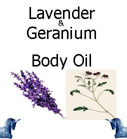 Lavender and geranium Body Oil