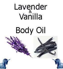 Lavender and vanilla Body Oil