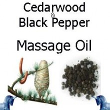 cedarwood and black pepper Massage Oil