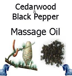 cedarwood and black pepper Massage Oil
