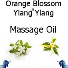 Orange Blossom and ylang ylang Massage Oil