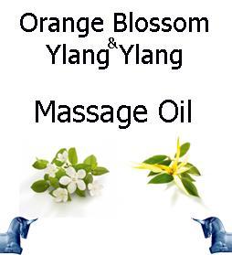 Orange Blossom and ylang ylang Massage Oil