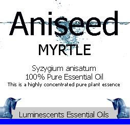 aniseed myrtle label