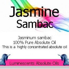 Jasmine Sambac Absolute Oil Label
