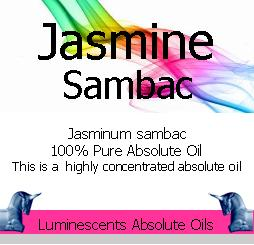 Jasmine Sambac Absolute Oil Label