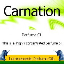 carnation perfume oil label