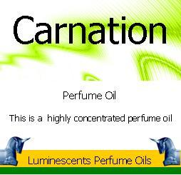 carnation perfume oil label