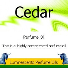 cedar perfume oil label