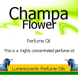 champa flower perfume oil