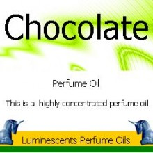 chocolate perfume oil label