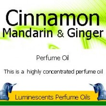 Cinnamon mandarin and ginger perfume oil