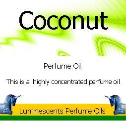 coconut-perfume-oil label
