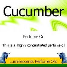 Cucumber perfume oil label