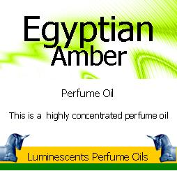 Egyptian Amber label