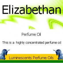 Elizabethan Perfume Oil Labelan image of Elizabethan Perfume Oil Label from luminescents