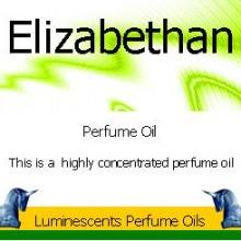 Elizabethan Perfume Oil Labelan image of Elizabethan Perfume Oil Label from luminescents