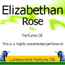 Elizabethan Rose Perfume Oil Label