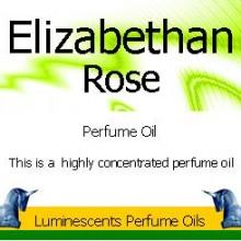 Elizabethan Rose Perfume Oil Label