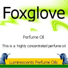 Foxglove Perfume Oil Label