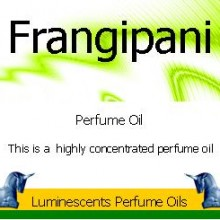 Frangipani perfume oil label
