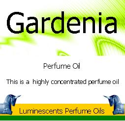 gardenia perfume oil label