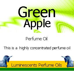 green apple perfume oil label