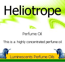 heliotrope perfume oil label