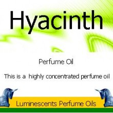 hyacinth perfume oil label