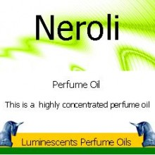 neroli perfume oil label