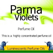 parma violets perfume oil label