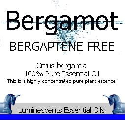 Bergamot Bergaptene Free Essential Oil Label