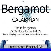 bergamot calabrian essential oil label