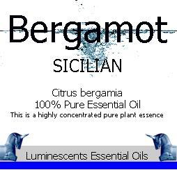 Bergamot sicilian label